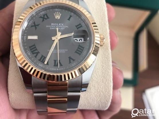 Rolex Datejust 2020 Steel and Yellow Gold Wimbledon Dial