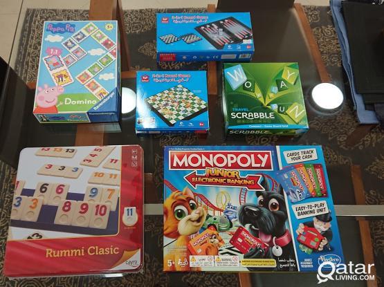 Six board games