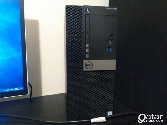 """DELL OPTIPLEX 7040-i7-8B RAM-1TB-HDD‐ 24""""inch LED Monitor"""