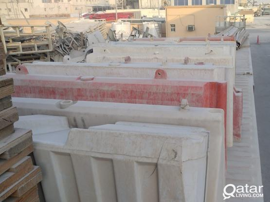USED PLASTIC BARRIER FOR SALE