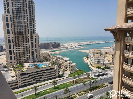 UNBEATABLE  OFFER! PARTIAL MARINA VIEW! 3 bedroom apartment for rent in Porto Arabia