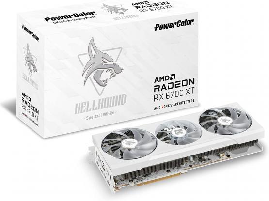 PowerColor Hellhound Spectral White AMD Radeon RX 6700 XT