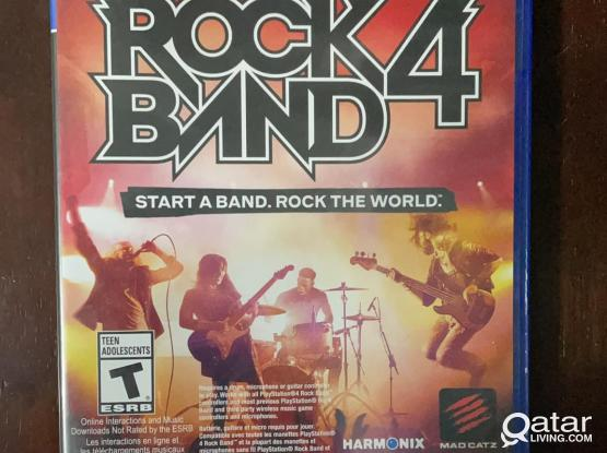 PS4 Rockband (Band in a Bundle with add. Guitar