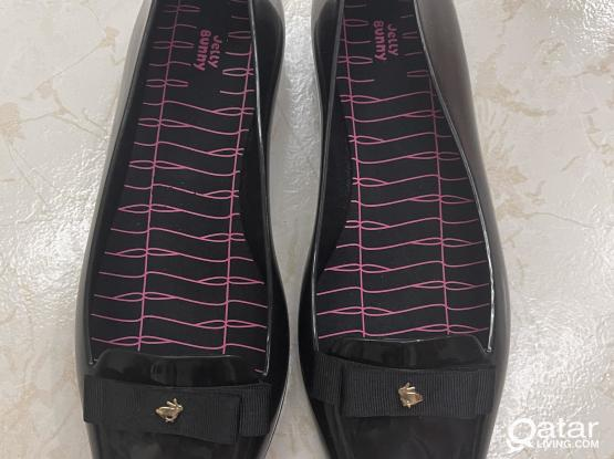 """Jelly bunny shoes """" black plastic"""""""