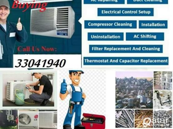 All type of Ac repairs and services. Sale & buy. Please 33041940