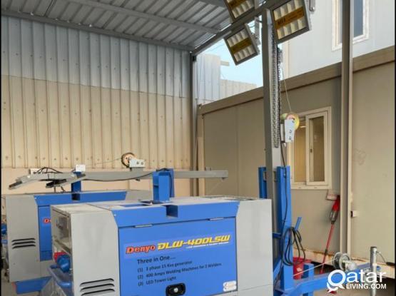 Industrial Welding Generator+Tower light for Rent