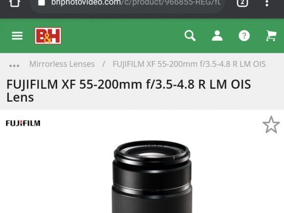 Fuji XF 55-200 mm Zoom Lens - Fujifilm - Perfect for Long range