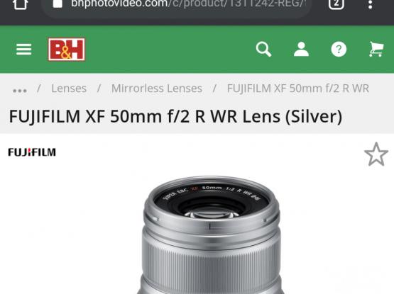 Fuji XF 50 mm F 2 - Fujifilm Good for Portraits
