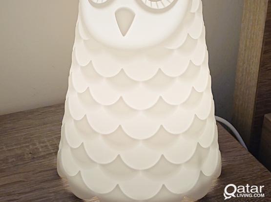 IKEA Owl themed bedside table lamp