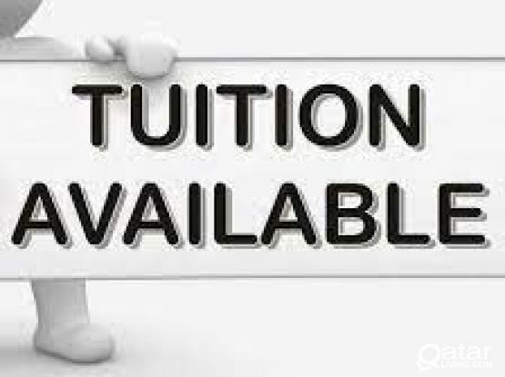 Tuition Available (Grade KG1 to 10)