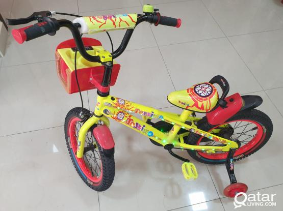 Kids bicycle/cycle with LED lights. In good condition. Upto 5 - 8 yesrs