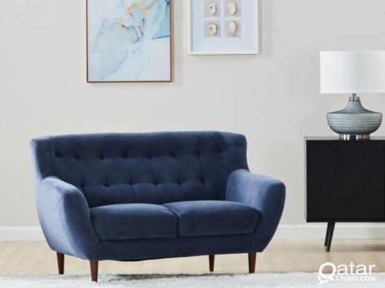 Sofa -  2 Seater (Miley 2 Seater Fabric Sofa - Home Center)