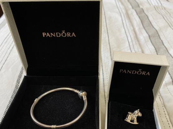 Pandora Sterling Silver  Bracelet With Charm