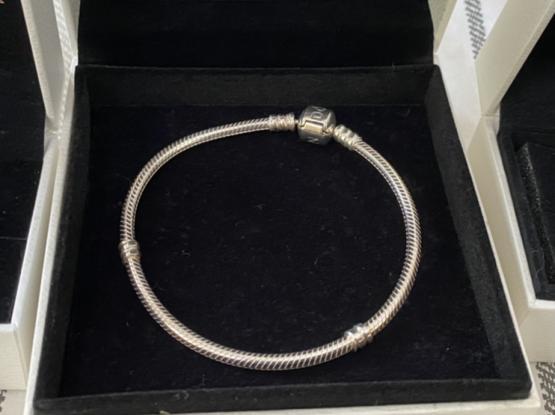 Pandora Sterling Silver Bracelet- New