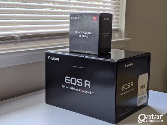 Canon EOSR Camera  WITH  EF ADAPTER
