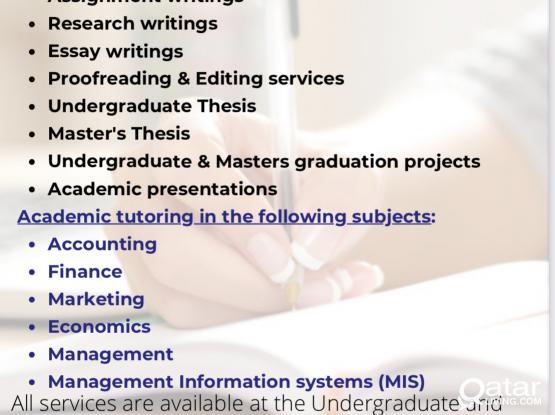 FREE University + Masters Academic Consultations