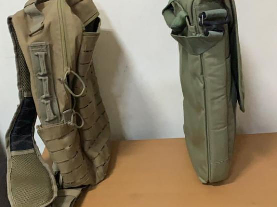 A Set Of 2 Army Shoulder Messenger Bags
