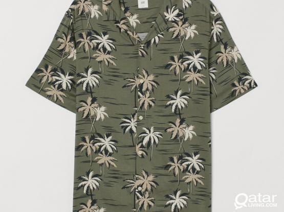 Patterned Resort Beach Shirt NEW