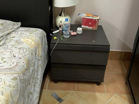 IKEA KING SIZE BED, CUPBOARD, DRESSING TABLE