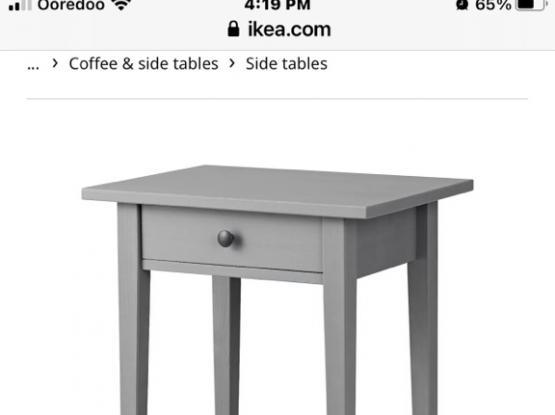 Dark Wood Side Tables