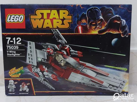 New Lego Star Wars 75039 V-wing Starfighter 2014 Hard to find, sealed!