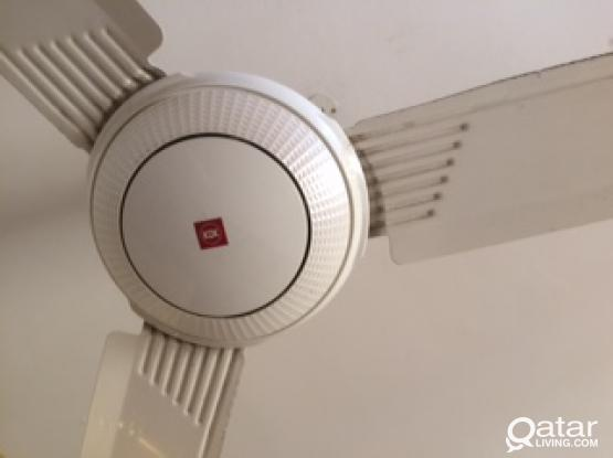 For urgent sale of Ceiling 4 fan in very good condition