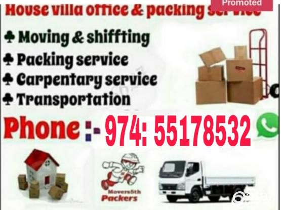 Top Quality Shifting and moving service. Please call - 55178532