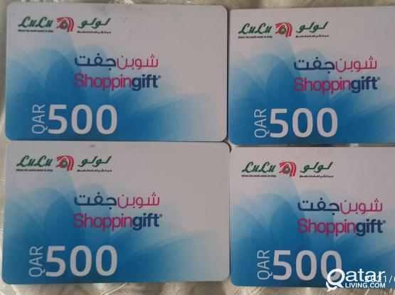 Lulu gift card of QR 2000 at QR 1800 final price no silly offer