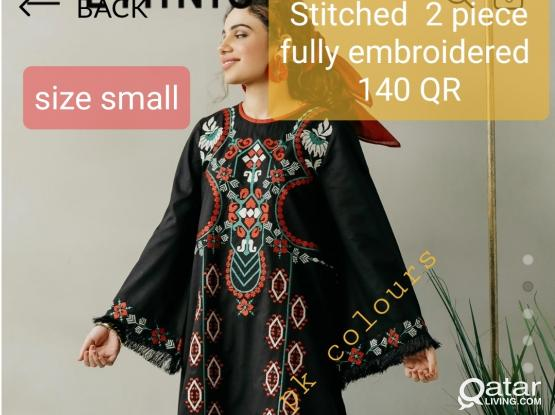 Stitched fully embroidered 2 pc