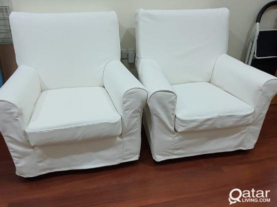 IKEA GRÖNLID arm chair (x2)