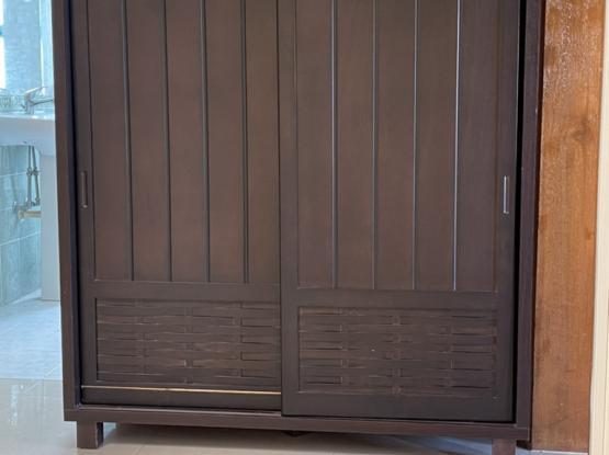 Multipurpose Cabinet Dark Brown Wood
