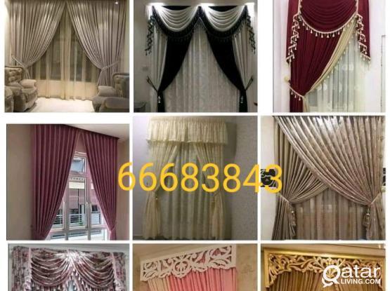 Window Curtains,Plastic PVC Vinyl Wooden Parquet Flooring Blackout Roller Installation, Sales New Making Repair & Fixing. Call Me 66683843