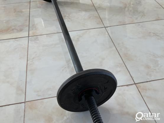 Weight Bar with 2x 2.5 weights