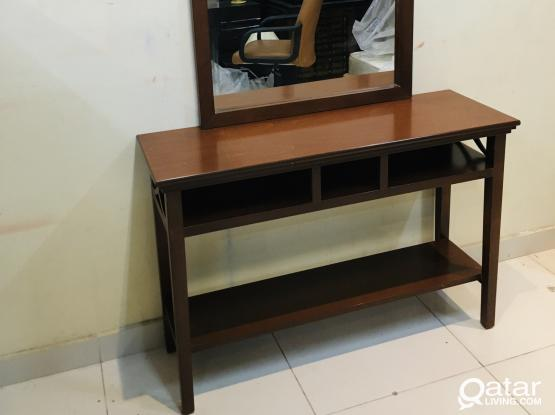 Console table with mirror from home center