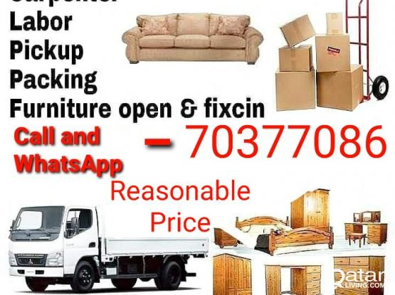 Moving and shifting service anywhere anytime. Please call 70377086