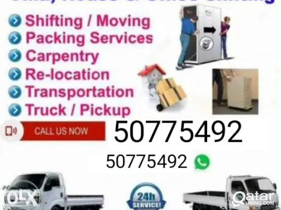 Shifting and moving from and to any location. Please call 50775492