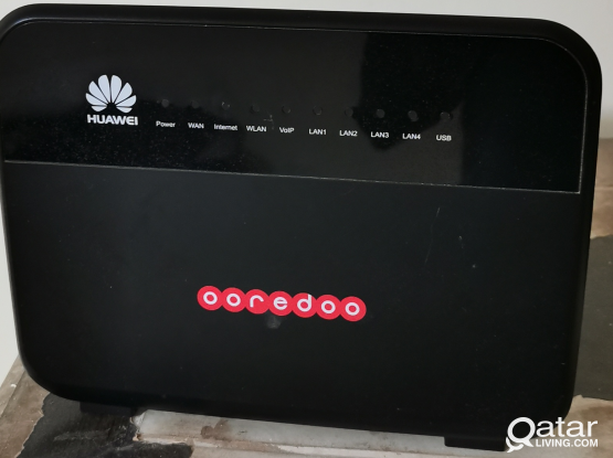 Ooredoo Router + LAN wire
