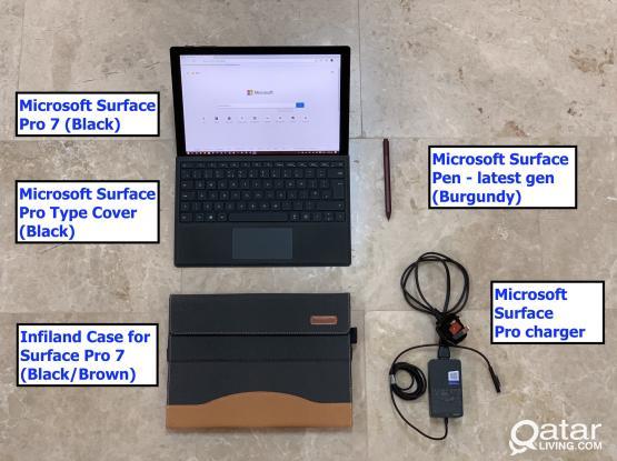 Surface Pro 7 + Surface Pen + Case