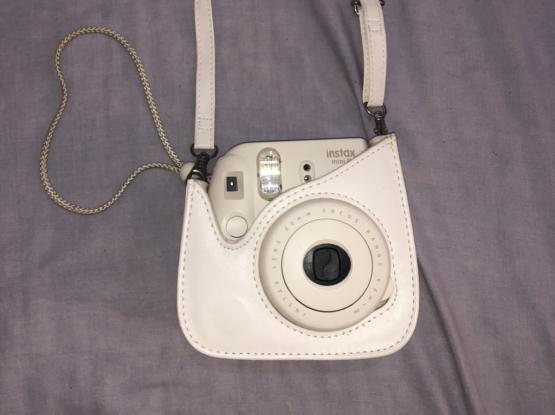 White Instax Mini 8 with Case (Great Condition)