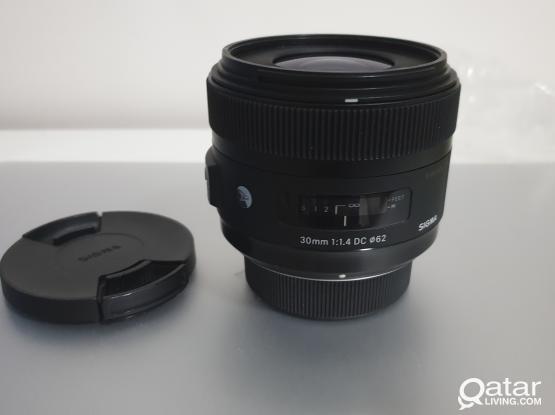 Sigma 30mm 1.4 Art for Nikon