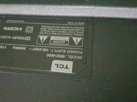 "TV - TCL 49"" Smart TV + Box + Netflix Remote"