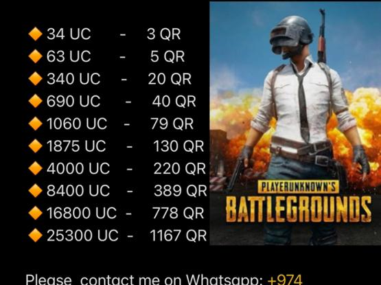 GLOBAL PUBG UC AVAILABLE CHEAP PRICE