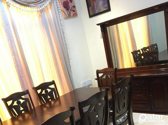 Dining table with 8 chair and Buffee from home canter