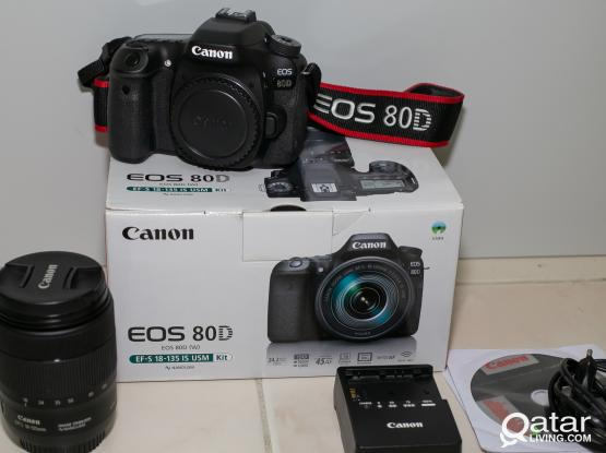 Canon 80D with 18-135mm USM,Box and All Accessories