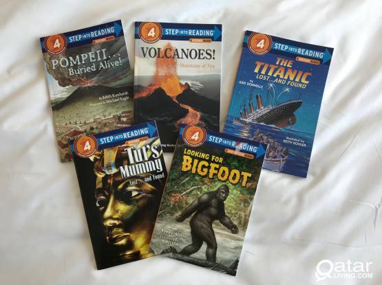 Kids Books - Step into Reading Level 4 - (5 Books)