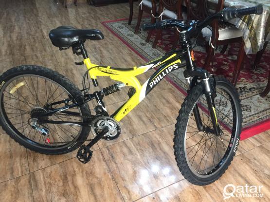 Original Philips 24 inch gear cycle yellow black