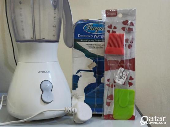 Kenwood Blender, pump, spatula and brush