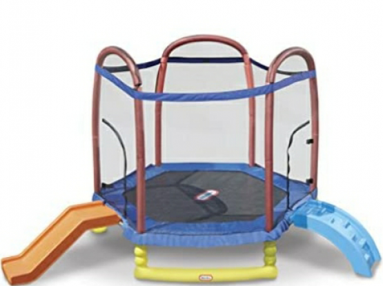 Little tikes trampoline with slide
