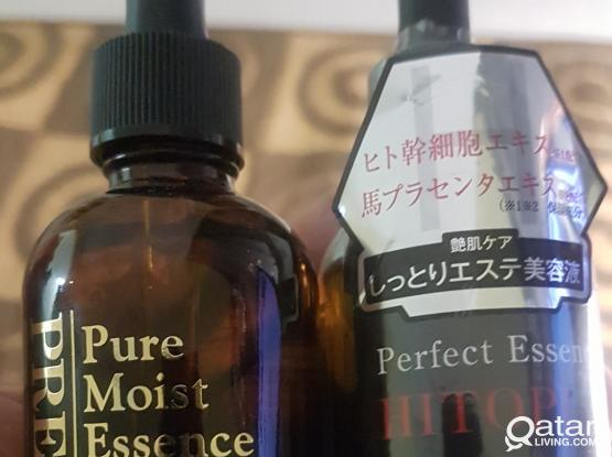 Pure Moist Essence and Hitopla from Japan