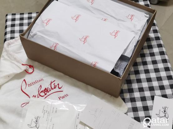 Louboutin Sneaker for Men Brand new with box and bag size 41 Eur UNWANTED GIFT